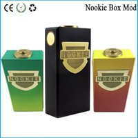 Nookie Box Mod battery contact material - Nookie Box Mod Thread Mechanical Mod with Dual Batteries Copper Contact SS Brass Material VS cherry bomber box mod