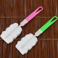Wholesale Hot sale Sponge Baby bottle brush Newborn Feeding Milk Bottle Nipple Brush Cleaner Cleaning Tool