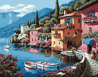 Wholesale Villa Frameless Picture Painting By Numbers DIY Digital Canvas Oil Painting Home Decor For Living Room Wall Art G173