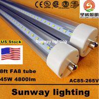 led tube - Stock In US ft fa8 led tube Single Pin FT T8 Led Light Tubes LEDs SMD2835 Led Fluorescent Light W LM AC85 V