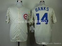 bank logos - 2015 New Turn Back Chicago Cubs Jersey Ernie Banks Baseball Jersey Cream Embroidery Logo S XL Cheap TOP Quality