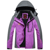 Wholesale Outdoor ski wear thin with single men and women in the spring and autumn seasons waterproof winter mountaineering wear coat thickening
