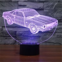 animation light table - Acrylic Colorful USB Household Bedroom Office LED Table Lamp Child D Animation Cars Night Lights Christmas Gift D TD127