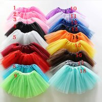 Wholesale 2016 Baby Girls Childrens Kids Dance Clothing Tutu Skirt Pettiskirt Dancewear Ballet Dress Fancy Skirts Costume