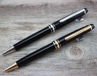 blance - 2pcs High Quality Meisterstuck mon black resin ballpoint pen classic luxury blance brand pen