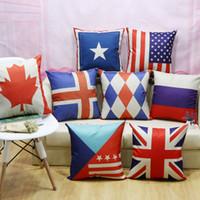american flag car - 2016 new flag series Jack American flag linen cushion and pillow cushion sofa bed cushion cushion car