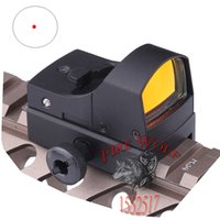 adjusting rifle sights - Tactical holographic reflected optics Discolor Auto Brightness adjusting Red Dot Reflex Scope Sight fit any mm rail