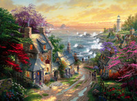 Wholesale Thomas Kinkade Landscape Painting Reproduction High Quality Giclee Print on Canvas Modern Art Decor TK091