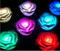 Wholesale Newest Emulation LED Luminous Rose night light Flashing Rose Flower and animal Colordul Party toys Valentine s Day Wedding Gift