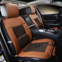 Wholesale 12V Cooling Car Seat Cover Single Cushion With Cool Air And Massage Function High Fiber Leather Car Covers Styling Truck Sedan