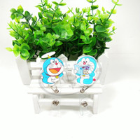 acrylic document holders - 2016 Christmas gift Doraemon cartoon card holder retractable reel ID credit card holder documents folder Withholding documents