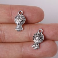 antique electric fans - New x17mm Zinc Alloy Antique Silver Electric Fan DIY Charms Pendants jewelry making DIY