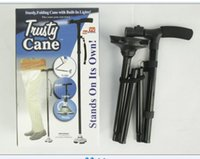 Wholesale New Ultra light Handle Dependable Folding Cane with Built in Light Walking Cane Magic Foldable Cane Trusty Cane for Elder