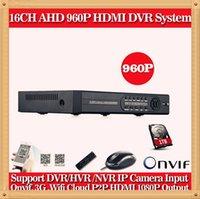 al por mayor sistemas de seguridad cctv dvr wifi-dvr completo de seguridad CCTV AHD 960P 720P 960H CIA-Video vigilancia de 16 canales con el sistema DVR Grabador NVR función de alarma wifi 1080P HDMI