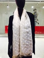 Wholesale Summer Polka Dot Silk organza shawl Black apricot