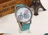 best bike battery - New Fashion Womens Watches Best Cheap Fabric Belt Stainless Steel Bike Pattern Quartz Wrist Watches for Women Girls