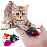 Wholesale Hot Sale New Rabbit Fur False Mouse Pet Cat Toys Fake Mice Rats Cute Playing Toys for Cats Kitten Color In Random