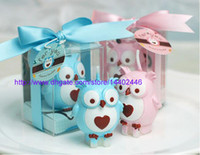animal baby shower theme - 200pcs Owl Candle Birthday Party Pink Favor Gift Box Baby Shower Heart Animal Theme Cake Top