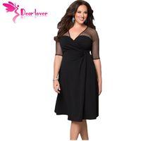 autumn spices - Dear Lover Plus Size XXL Women Fashion Half Sleeve Work Wear Sugar and Spice Dress cozy vestidos autumn dress big sizes LC60671