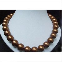 Wholesale HUGE AAA MM SOUTH SEA CHOCOLATE PEARL NECKLACE K GOLD CLASP INCH