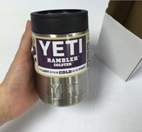 Wholesale Hot Yeti oz Stainless Steel Mugs Rambler Coolers Tumbler Beer Cups YETI Colster Double Wall Insulated Car Coffee Mug With Logo