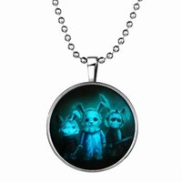 animals killers - 152N80 European Charms Killer Rabbits Light Necklace Halloween Day Gift Best Seller Noctilucence Pendant Necklaces Hip Hop Jewelry