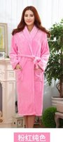 Wholesale Bathrobe couple flannel nightgown bathrobe men s autumn and winter thick coral velvet pajamas Ms tracksuit big yards