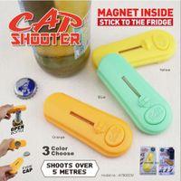 beer bottle refrigerator - Cap Shooter bottle opener with fridge magnet cap launcher sticker Cap shooting Bar Kitchen Beer Bottle Opener Refrigerator Sticker