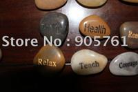 Wholesale Gravierte steine wort steine