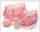 Wholesale Large capacity and pregnant women supplies maternal and child bag delivery bag set multi function five waterproof mummy bag