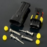 auto wiring terminals - 2 line Auto Plug Sealed Wire Connector Terminal Socket Snowmobile kit Waterproof M00071