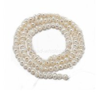 Wholesale 4 mm quot A Strand White Freshwater Natural Real Pearl Round Loose Beads For DIY Jewelry Making