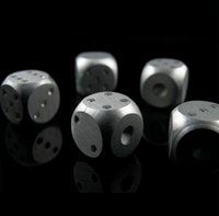 Wholesale Aluminium Alloy Poker Pieces Silver Portable Dice Game Galloping Dominoes