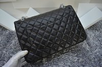 Wholesale women s classcial double flap bag CM Maxi Quilted Chain lampskin Leather Bag