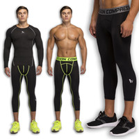 athletic clothing men - Fitness Tights Running Pants Fast Dry Athletic Short Pants Sports Leggings High Elastic Work Out Bodybuilding Clothes Black