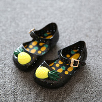 Wholesale Baby Girl Shoes Brand Funny Fruit Children Beach Sandals Lovely pineapple Kids Shoes for Girls spring summer
