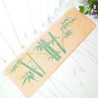 bamboo flooring designs - 6 Designs Printed The Bamboo Tree Pattern Flannel Rectangle Mat For Kitchen Room Bathroom X120CM High Quality Floor Carpet Pad