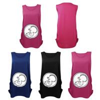 Wholesale New Arrivals Women Pregnant Tops T shirt Maternity Shirts Sleeveless Vest Baby Patterns Cotton Size M L XL KD6