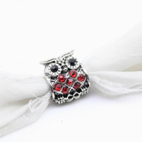 Wholesale Sell well Original Color mix fine Jewelry gold Bead Crystal Owl Charm European Bead Fit Pandora Bracelets Bangles