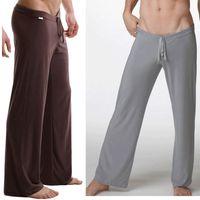 bamboo pajama pants - Sleep Bottoms Men s casual trousers soft comfortable Men s Sleep Bottoms Homewear yoga pants pajama Pants loose Lounge