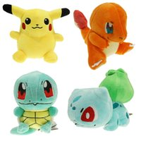 Wholesale 4pcs Plush Toys cm Size Pikachu Bulbasaur Squirtle Charmander Gift Plush Toys