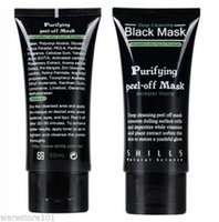 Wholesale NEWBest Selling SHILLS Deep Cleansing purifying peel off Black mud Facail face mask Remove blackhead facial mask ml DHL Free