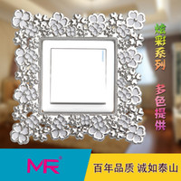 Wholesale Alano wall stickers to classical units in your home resin eco friendly material switch sticker for home decoration