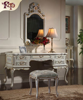 antique french provincial - French provincial furniture Luxury European royalty classic bedroom furniture set handmade solid wood dressing table