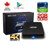 Wholesale Original M8S Android TV Box G G Dual band G G wifi Android Amlogic S812 Chip K XBMC Full HD Smart tv box
