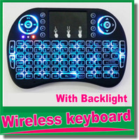 Wholesale New Arrivals Fly Air Mouse G Mini i8 i8B Wireless Keyboard With Backlight Mouse Remote Controlers Touchpad OM D5