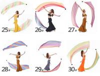 Wholesale Belly Dance Veil Poi SET Veils Poi Chains Multicolour colors accessories belly dance handball fabric DHL set