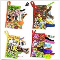 animal activities kids - 4Patterns Animal Style Baby Toys Hot New Infant Kids Early Development Cloth Books Learning Education Unfolding Activity Books