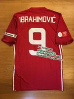 Wholesale slim fit red ibrahimovic cup print jersey