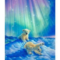 Wholesale diamond embroidery Polar bear full square rhinestone diamond painting cross stitch diy diamond painting decoration Needlework